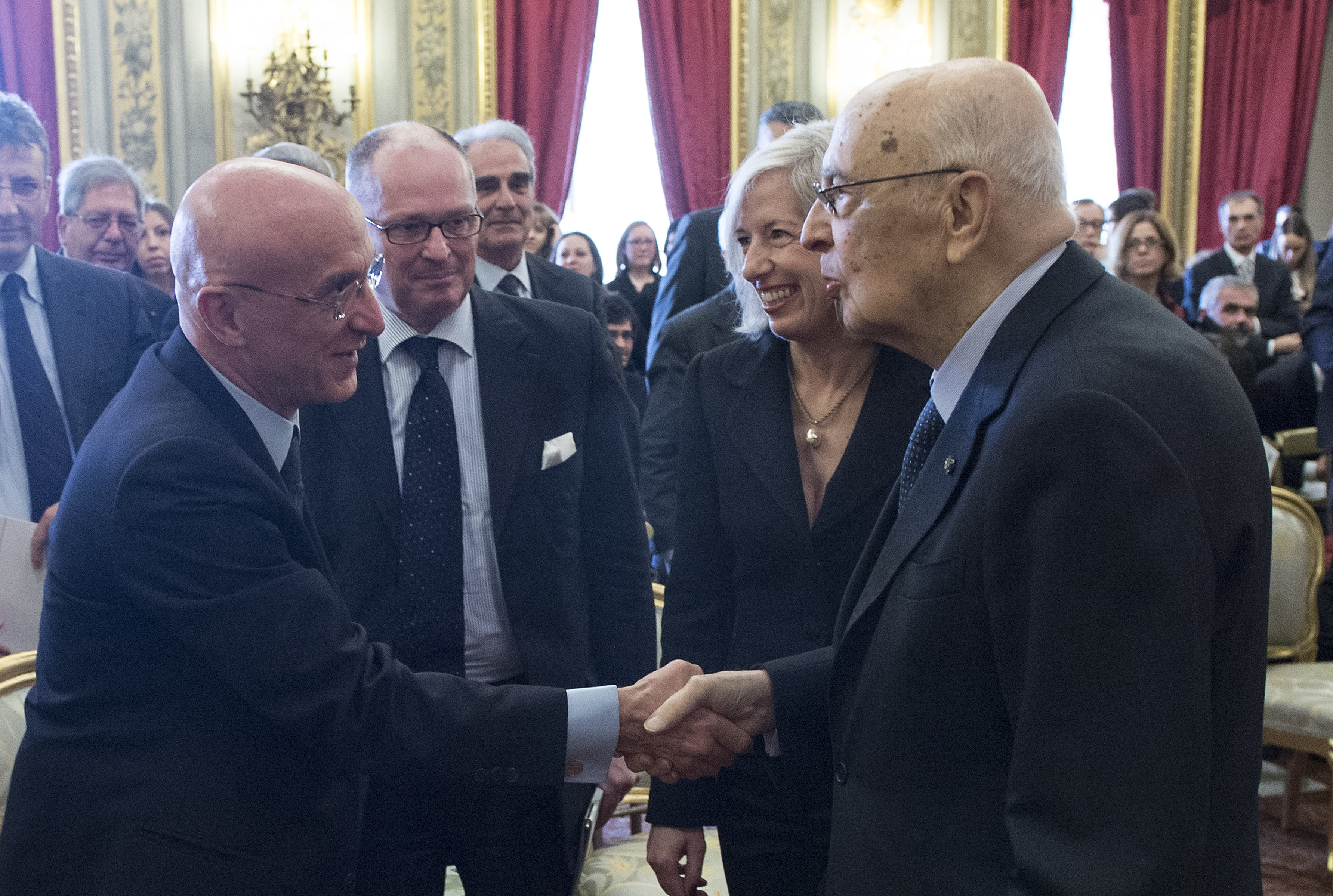 Piero di Lorenzo e Giorgio Napolitano - Bioeconomy Rome 2014