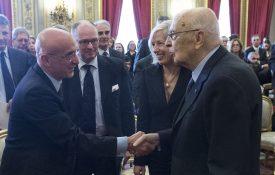 Piero di Lorenzo e Giorgio Napolitano Bioeconomy Rome 2013